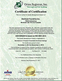 Shellcast Nadcap Certification
